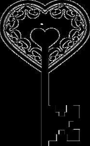 Heart Key PNG Photo PNG Clip art