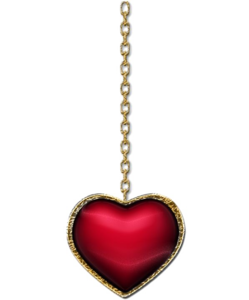 Heart Pendant Transparent Background PNG Clip art