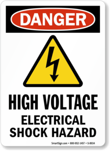 High Voltage Sign Background PNG PNG Clip art