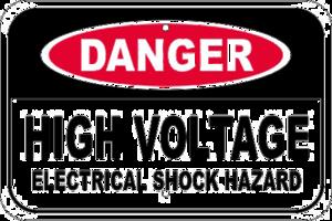 High Voltage Sign Transparent Background PNG Clip art