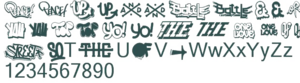 Hip Hop Fonts Transparent PNG PNG Clip art