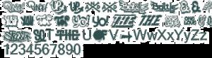 Hip Hop Fonts Transparent PNG PNG Clip art