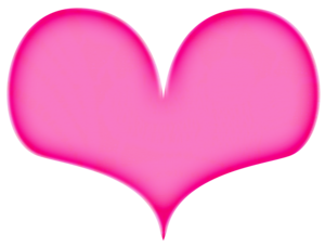Hot Pink Heart PNG File PNG Clip art
