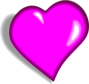 Hot Pink Heart PNG Image PNG Clip art