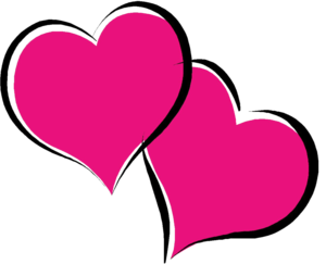 Hot Pink Heart PNG Pic PNG Clip art