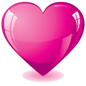 Hot Pink Heart Transparent Background PNG icons