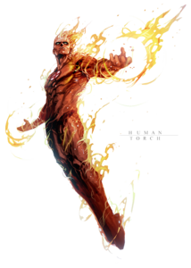 Human Torch PNG File PNG Clip art