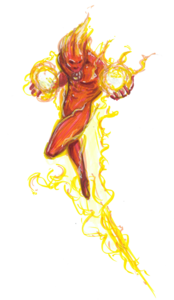Human Torch PNG HD PNG image