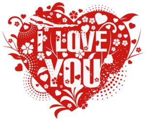 I Love You PNG Background Image PNG Clip art