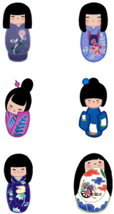 Japanese Doll PNG File PNG Clip art