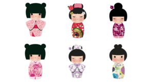 Japanese Doll PNG Transparent Picture PNG Clip art