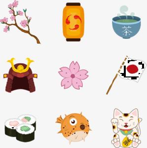Japanese Elements Transparent PNG PNG Clip art