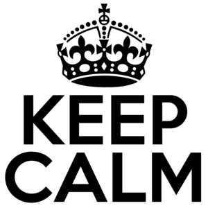 Keep Calm PNG Pic PNG clipart