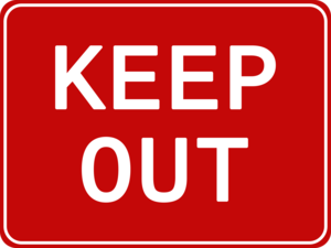 Keep Out PNG Picture PNG Clip art