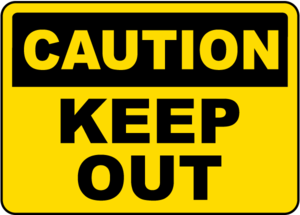 Keep Out Transparent Background PNG Clip art