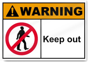 Keep Out Warning Transparent PNG PNG Clip art