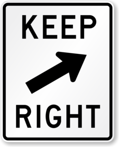 Keep Right PNG Image PNG Clip art