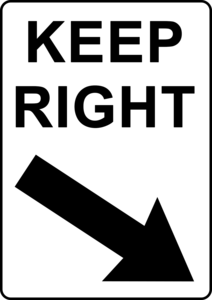 Keep Right PNG Transparent Image PNG Clip art