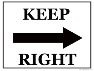 Keep Right Transparent PNG PNG Clip art