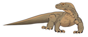 Komodo Dragon Transparent Background PNG Clip art