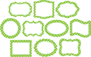 Lime Border Frame PNG Photos PNG icons
