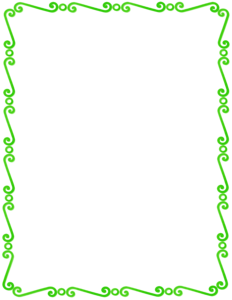 Lime Border Frame PNG Pic PNG Clip art