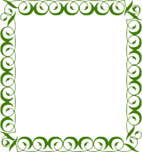 Lime Border Frame Transparent Background PNG Clip art