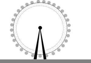 London Eye Transparent Background PNG Clip art