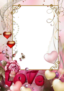 Love Frame PNG Photo PNG Clip art