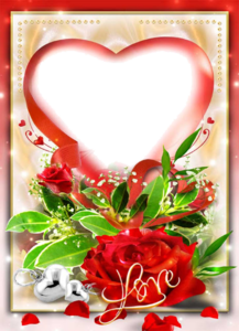 Love Frame Transparent Background PNG Clip art