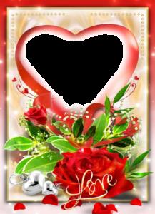 Love Frame Transparent Background PNG Clip art
