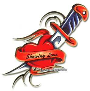 Love Heart Tattoo PNG PNG Clip art