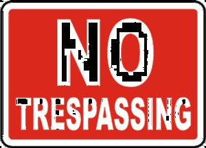 No Trespassing Sign PNG File PNG Clip art