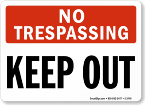 No Trespassing Sign PNG HD PNG Clip art