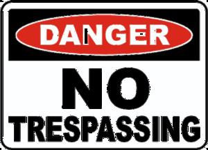 No Trespassing Sign PNG Image PNG Clip art