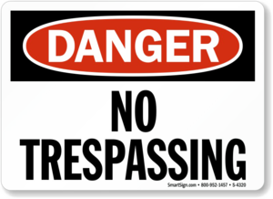 No Trespassing Sign PNG Photo PNG Clip art