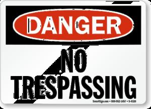 No Trespassing Sign PNG Photo PNG Clip art
