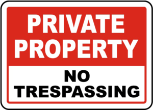 No Trespassing Sign PNG Pic PNG Clip art