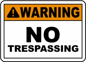 No Trespassing Sign Transparent Background PNG Clip art