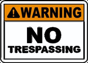 No Trespassing Sign Transparent Background PNG Clip art