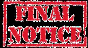 Notice PNG File PNG Clip art
