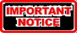 Notice PNG Pic PNG Clip art