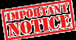 Notice PNG Transparent Image PNG Clip art