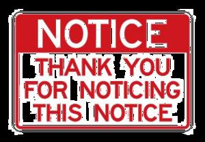 Notice PNG Transparent PNG Clip art
