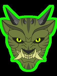 Oni Mask PNG Pic PNG Clip art