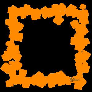 Orange Border Frame PNG HD PNG Clip art