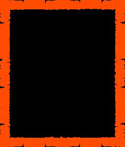Orange Border Frame PNG Pic PNG Clip art