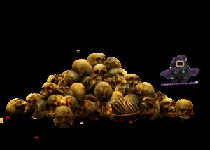 Pile of Skulls PNG File PNG Clip art