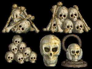 Pile of Skulls PNG Pic PNG Clip art