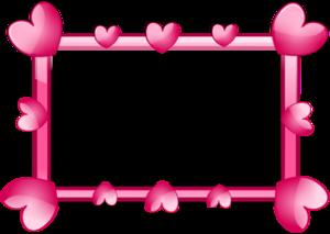 Pink Border Frame PNG HD PNG Clip art